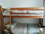 Chalet Pachuca Gwithian bunk beds. child frioendly accomodation, dogs welcome