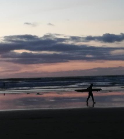 surfing at Gwithian beach, beautiful sunsets, surfing holidays